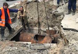 Продовження виконання роботи по усуненню пошкодження трубопроводу